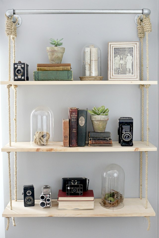 how to build your own wood shelves with pictures ehow. Black Bedroom Furniture Sets. Home Design Ideas