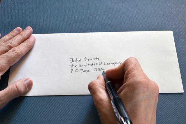 writing address with po box