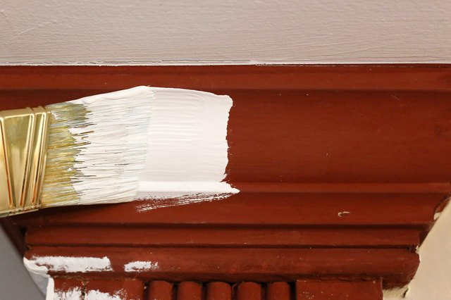 How to paint stained wood trim white with pictures ehow for How to paint trim