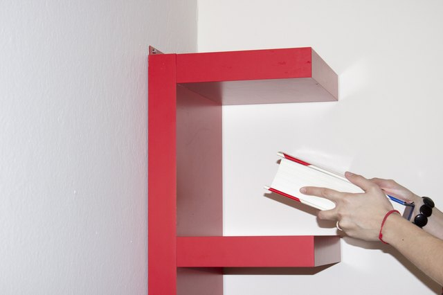 how to attach an ikea book shelf to the wall with