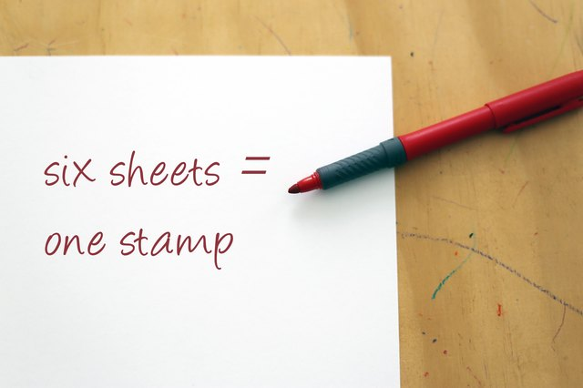 How To Estimate The Weight Of Letter Size Paper For Mailing Ehow
