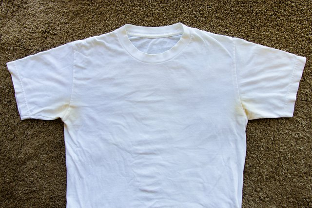 how to take yellow deodorant stains off white shirts ehow