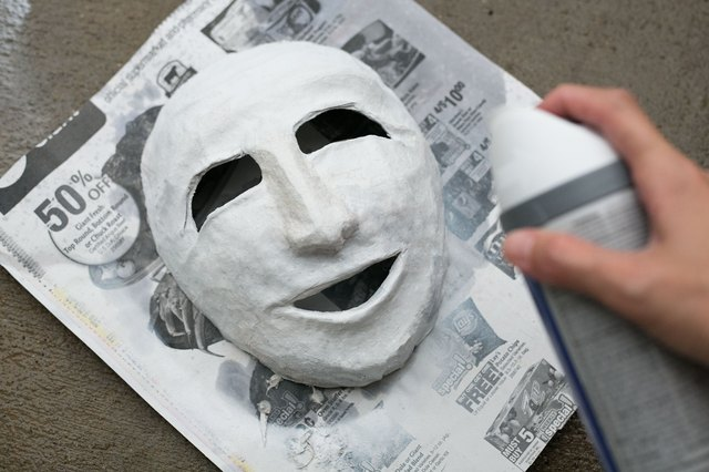How to make a greek theater mask with pictures ehow for Ancient greek mask template