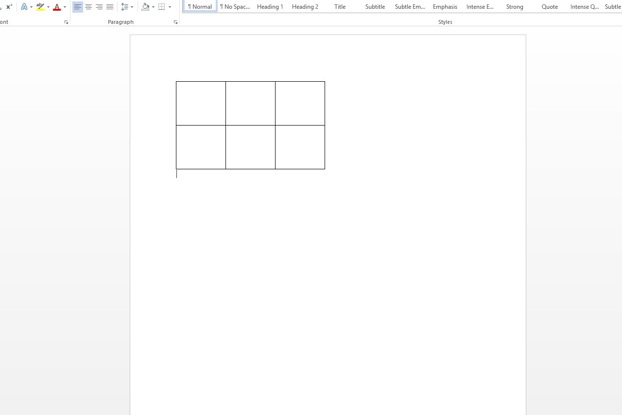 Access Text Vertical Alignment : How do i align a table horizontally in microsoft word ehow
