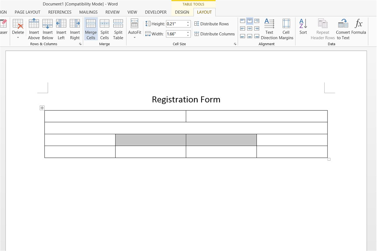 how to create forms from word