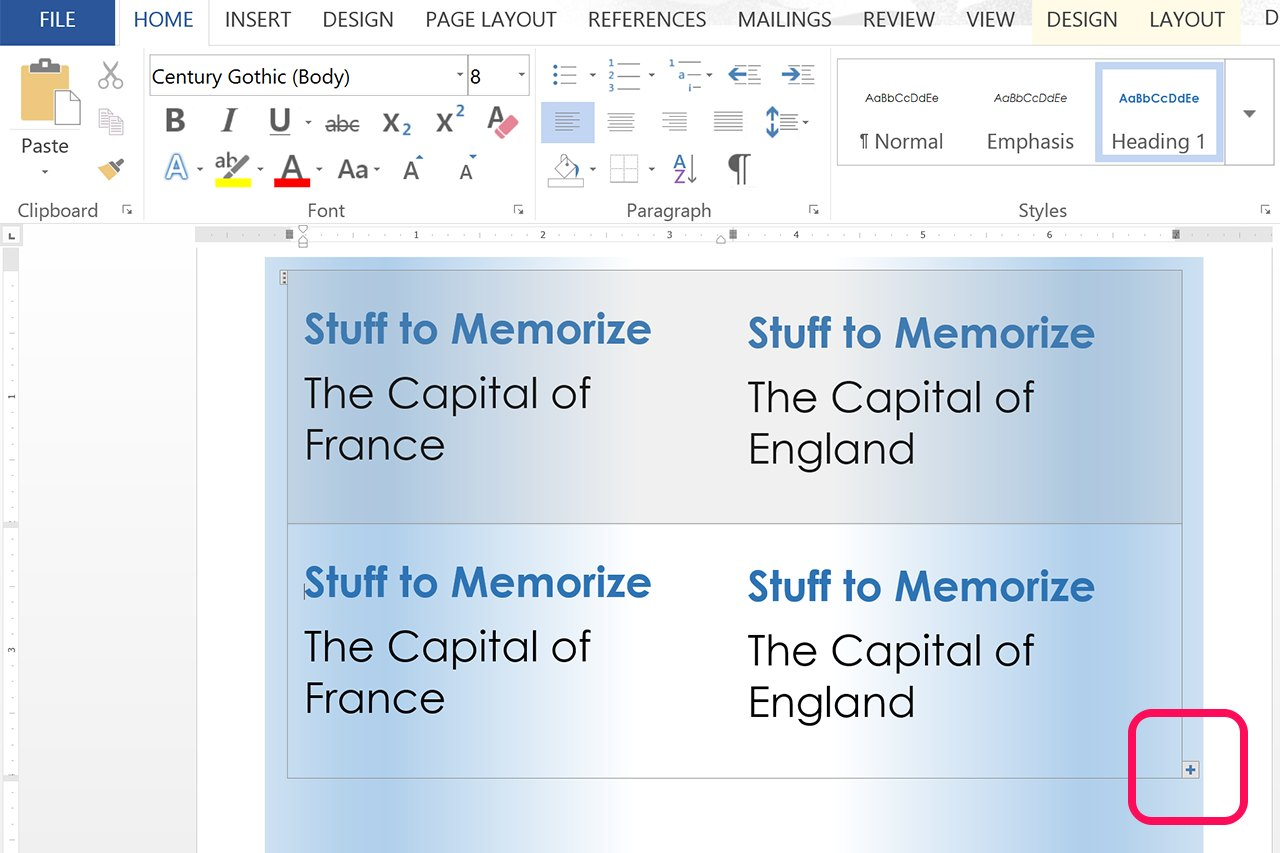 how to create a index in word
