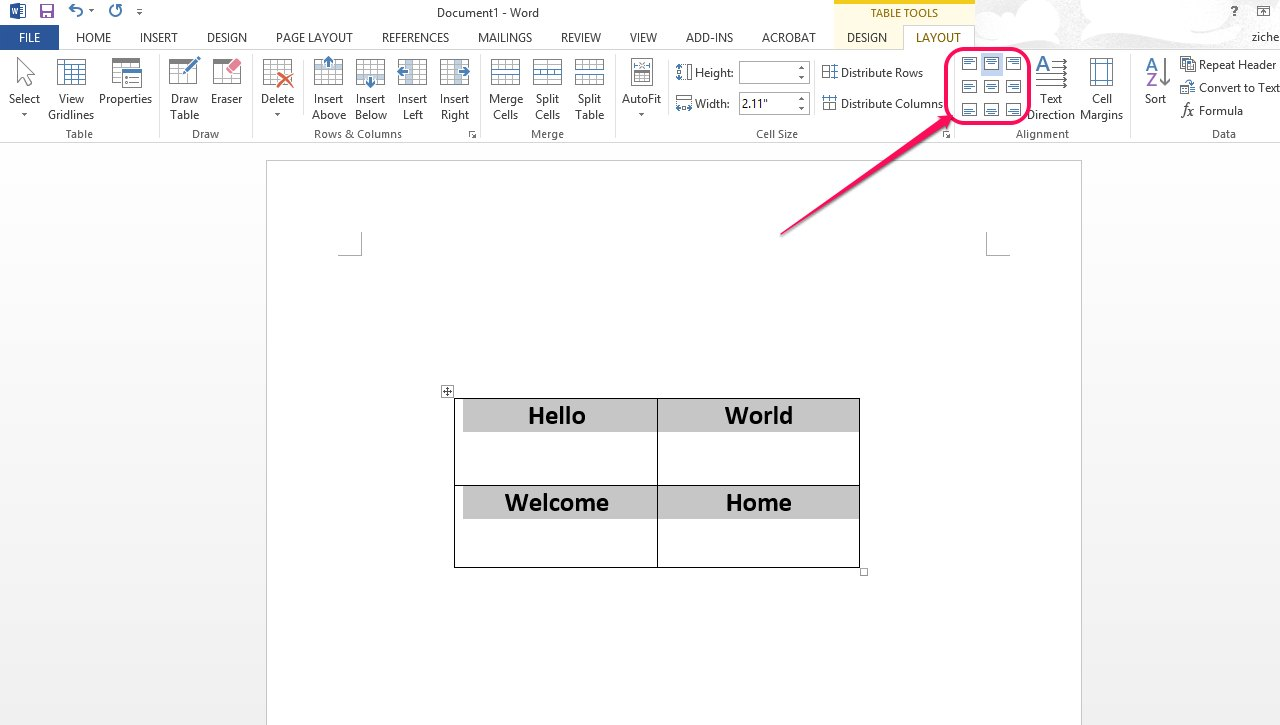 How do i align a table horizontally in microsoft word ehow for Table align center
