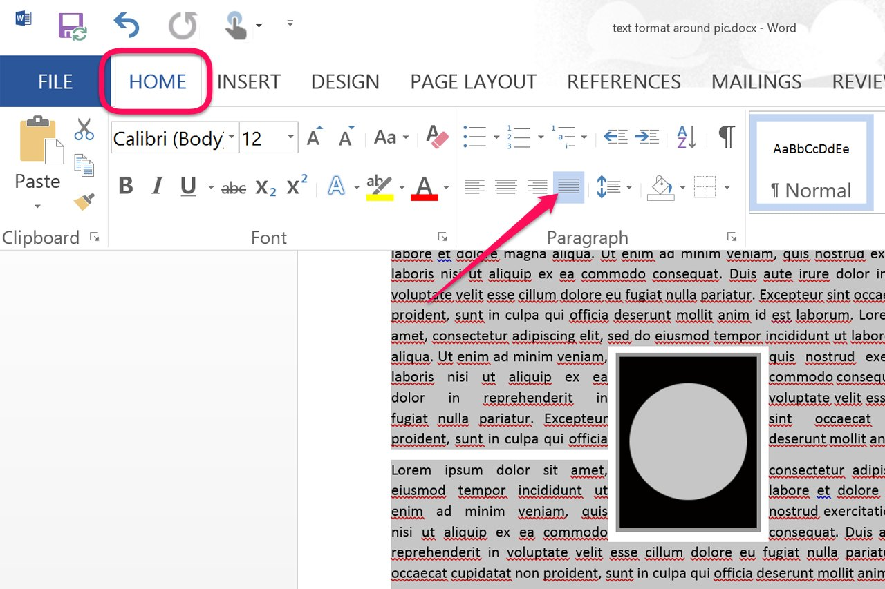 how to put image at the left of microsoft word