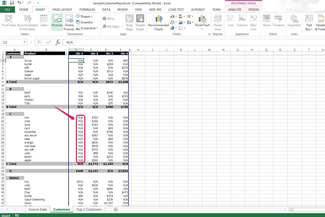 how to delete pivot table excel