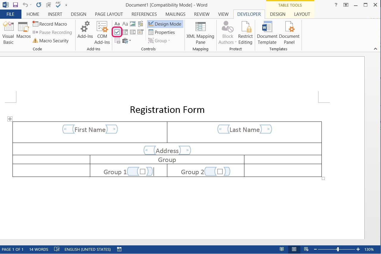 how to create a fillable form in word for mac