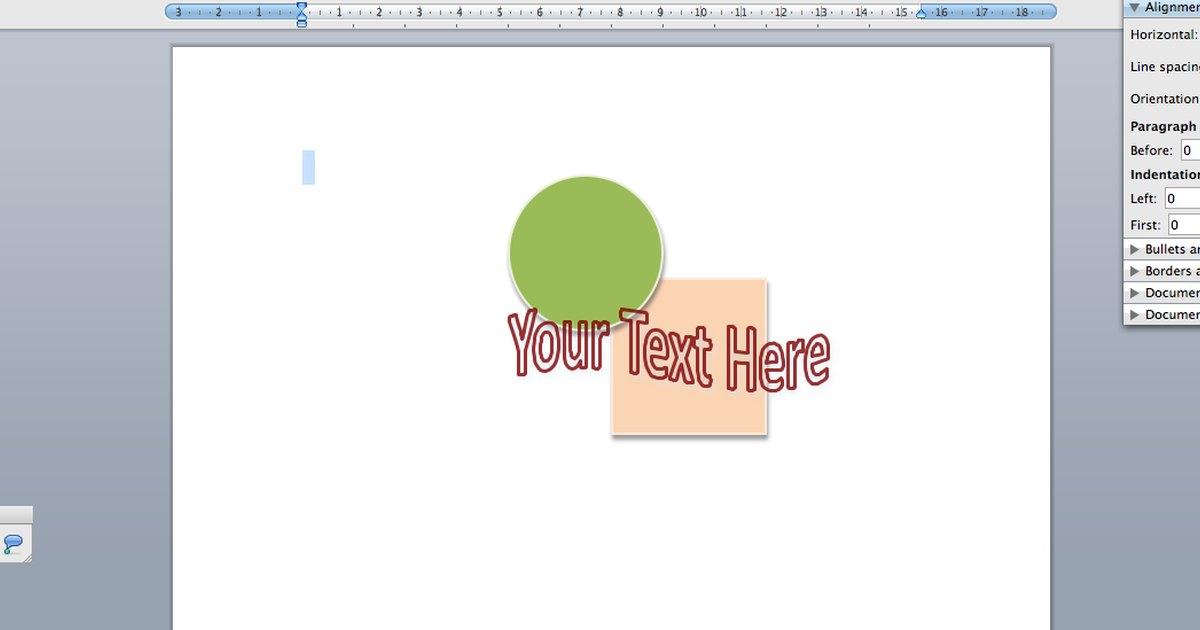dise u00f1ar un logotipo en word con texto incrustado