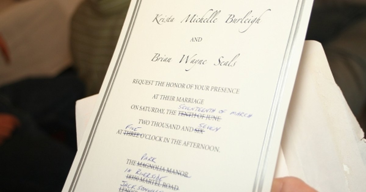 How To Word Wedding Invitation: How To Word Wedding Invitations Properly