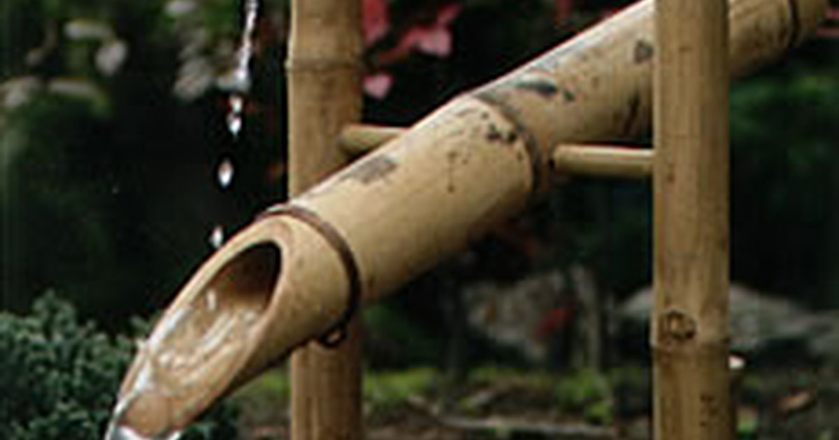 How to build a shishi odoshi fountain ehow uk - Shishi odoshi bamboo water feature ...