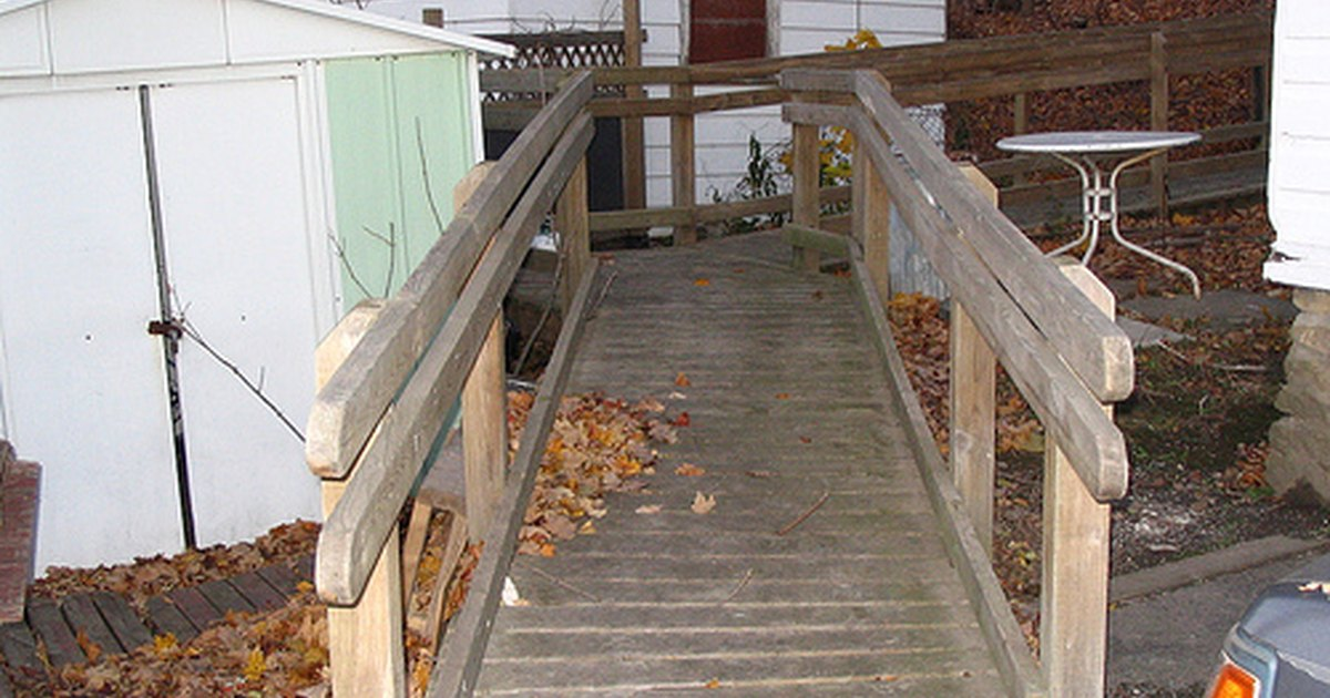 How To Build A Wheelchair Ramp House Ehow Uk