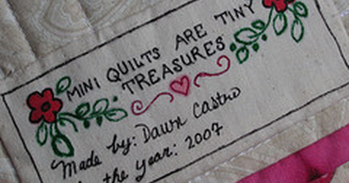 How To Make Quilt Labels Ehow Uk