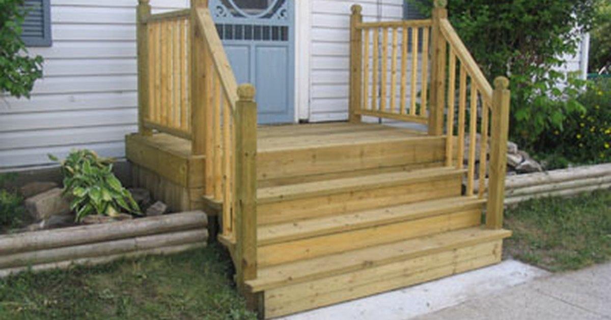 C mo construir un porche de cuatro escalones para una casa - Como hacer un porche barato ...