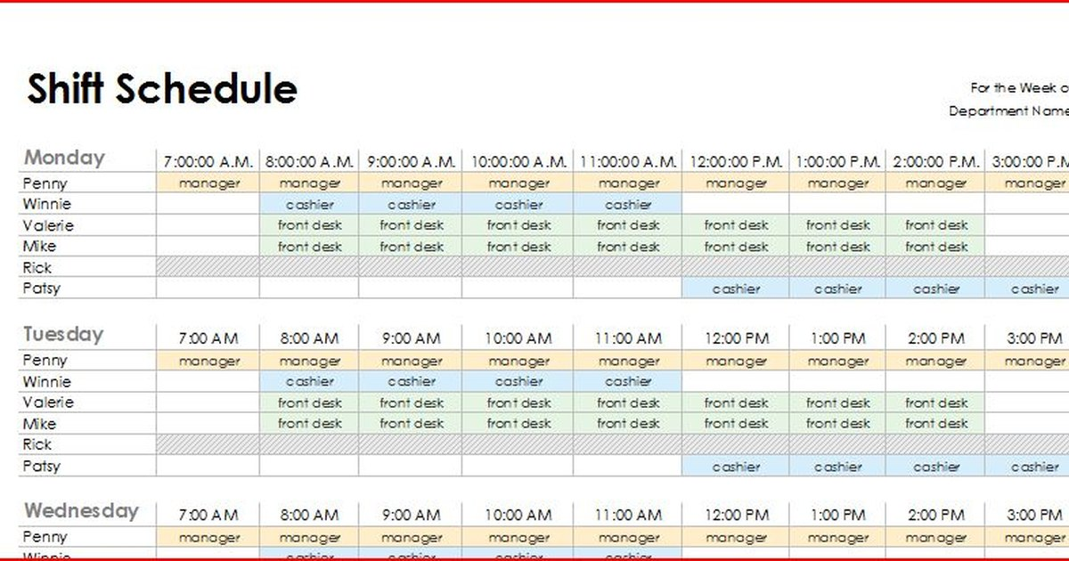how to make schedules
