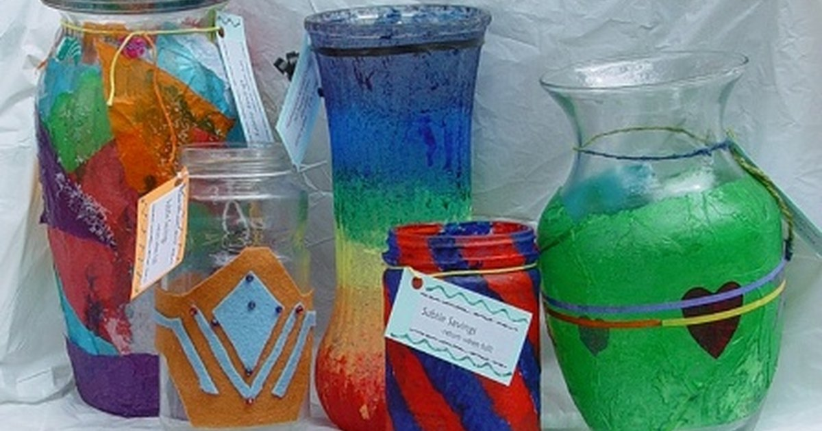 How to decorate glass jars ehow uk for How to decorate empty glass jars