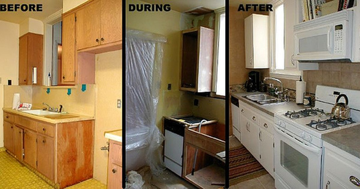 Ideas for small kitchen remodel on a budget ehow uk for Renovate a kitchen on a budget