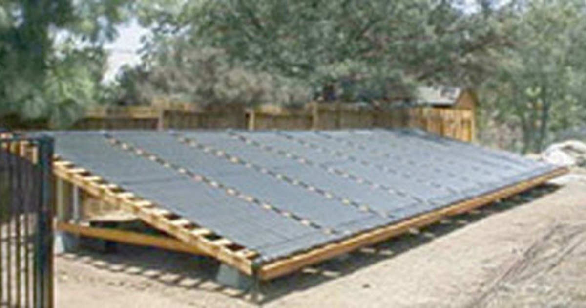 Plans for making a solar heater for a swimming pool ehow uk - How to build a swimming pool heater ...