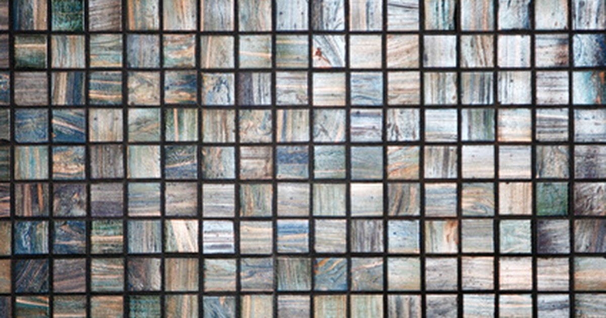 How to install mosaic wall tile ehow uk for Installing glass tile with mesh back