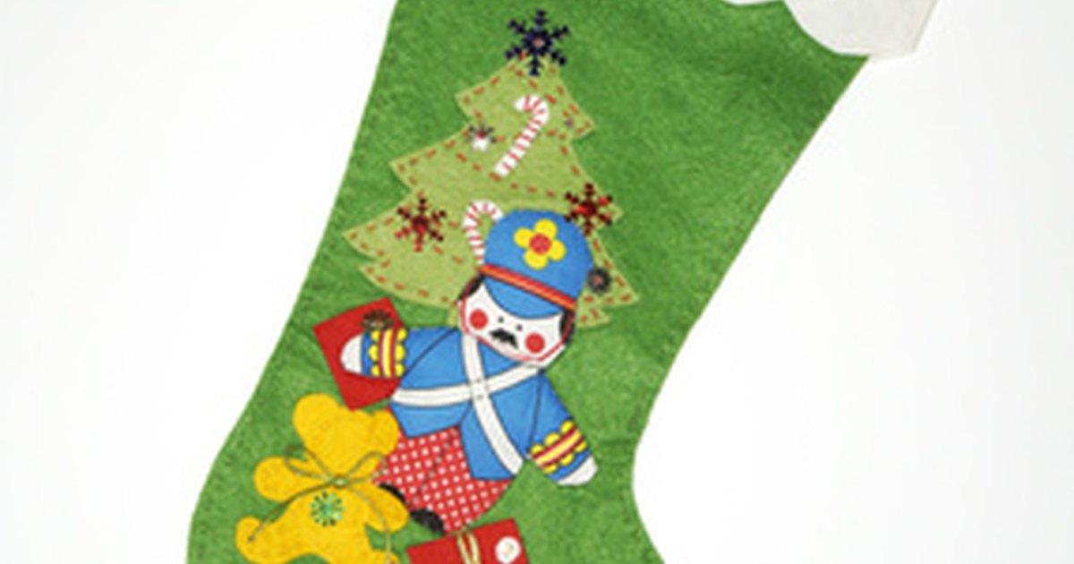 C mo hacer calcetines de navidad usando el punto de cruz - Como hacer calcetines de punto ...