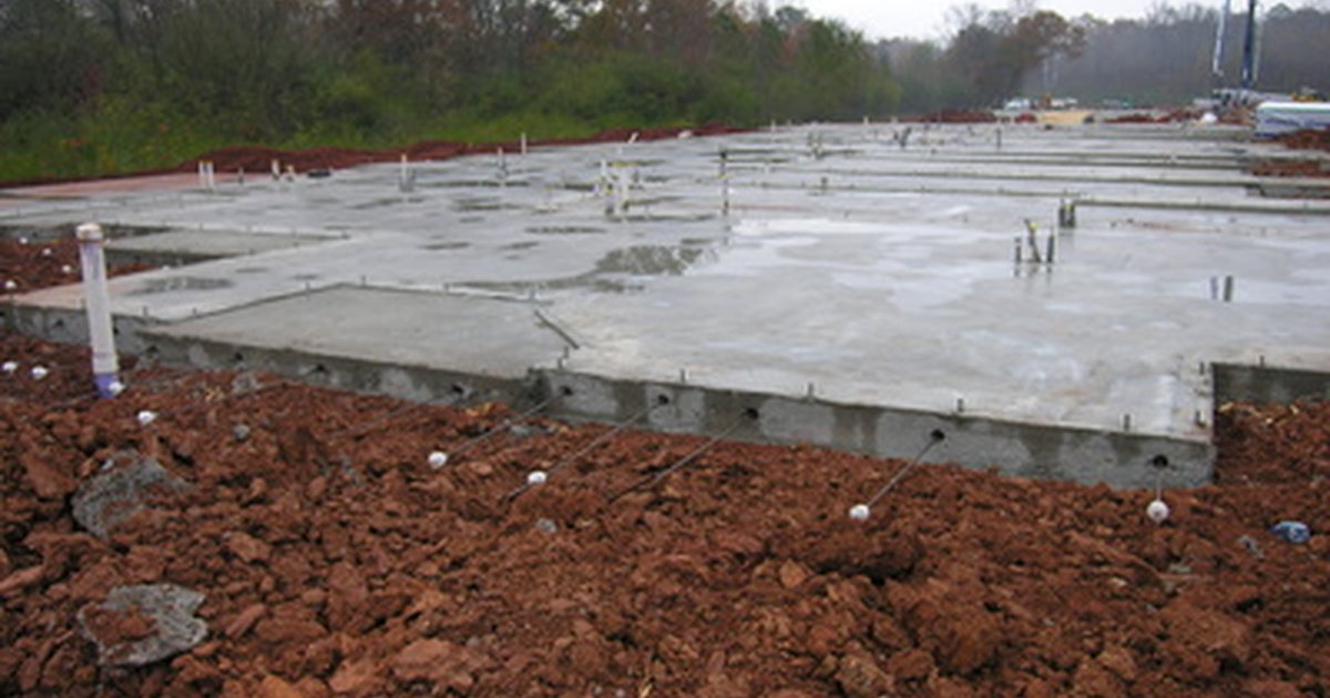 Types of slabs in construction ehow uk for Garage slab thickness