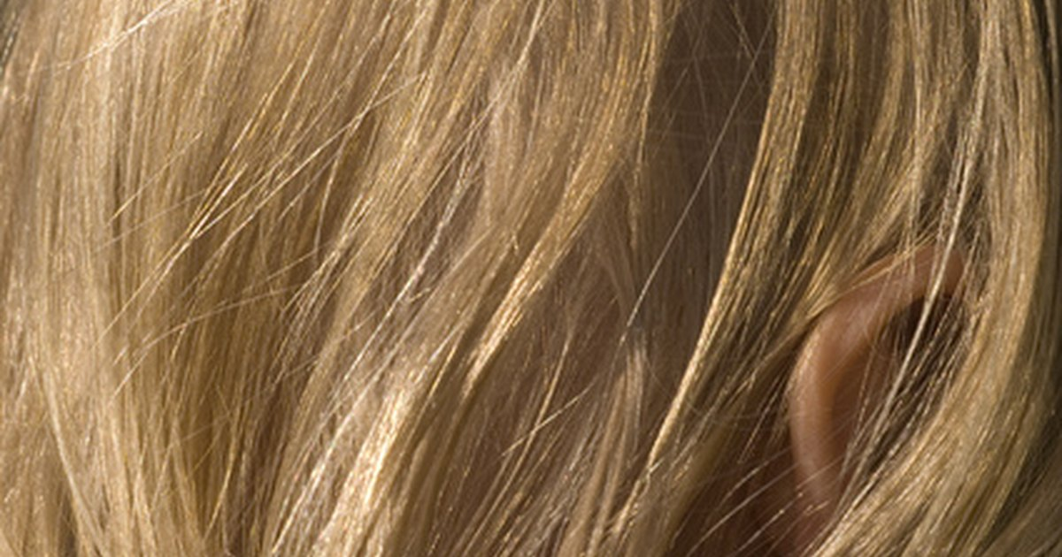 La foto de los cabello después de la máscara con dimeksidom