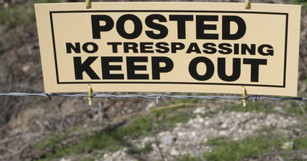 Definition Of Trespassing On Private Property