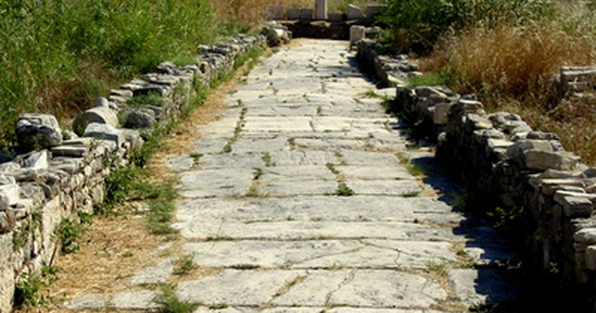 C mo construir un camino de piedra natural ehow en espa ol - Como colocar piedra natural ...