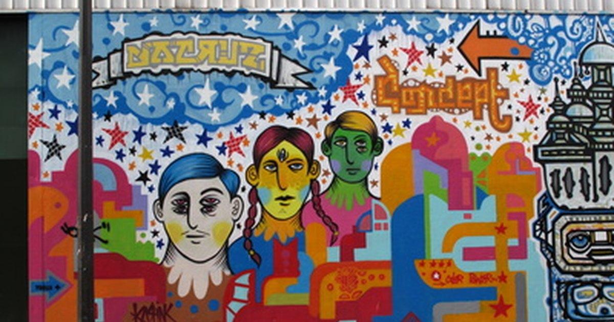 T cnicas y pinturas para murales al aire libre ehow en for Definicion de pintura mural