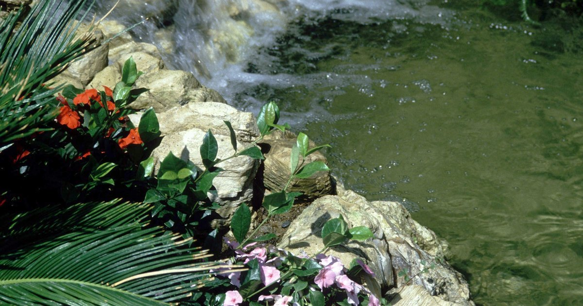 Edging for your garden pond ehow uk for Garden pond edging