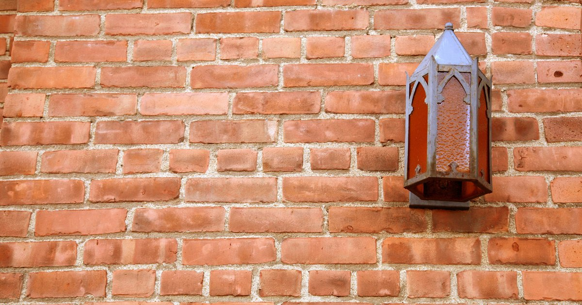 Wall Lights On Brick : How to install lights on a brick wall eHow UK