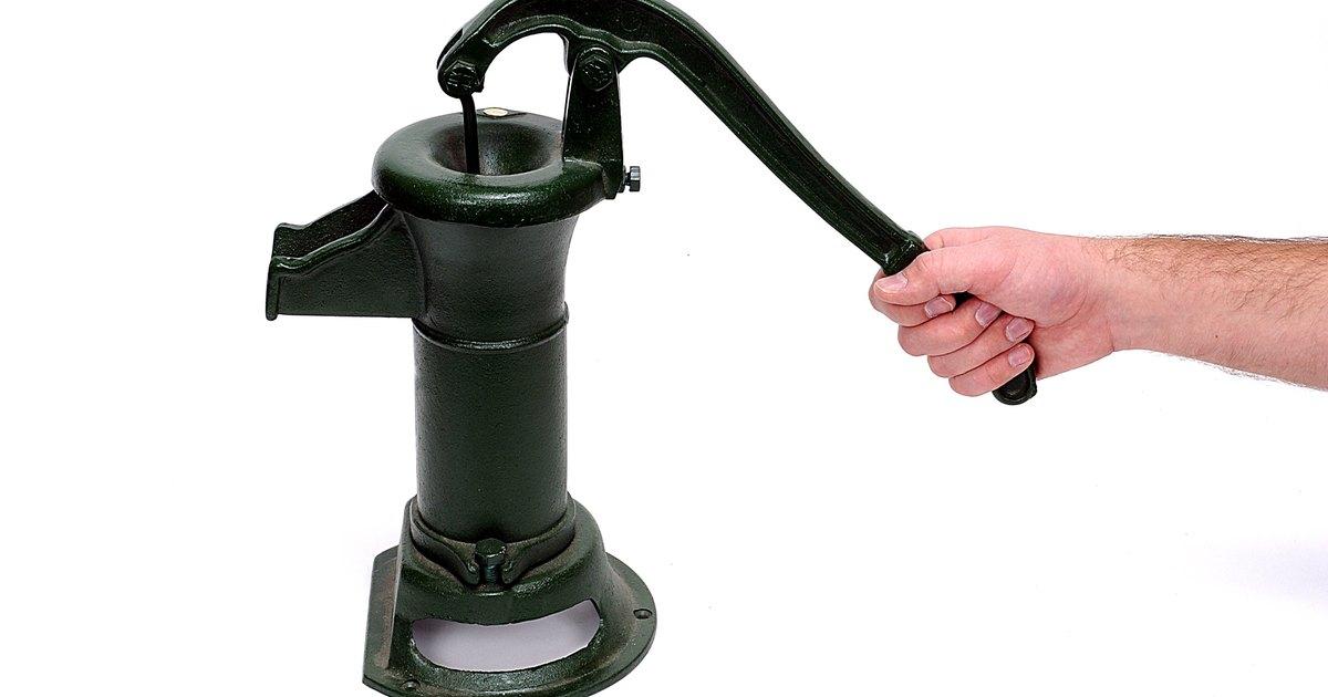 Qu tipo de bomba se necesita para sacar el agua de un for Bomba de agua manual