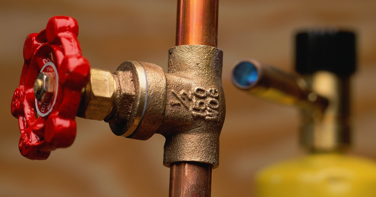 How to patch a pinhole leak in a copper wire for a hot for The leaky pipe carries more water