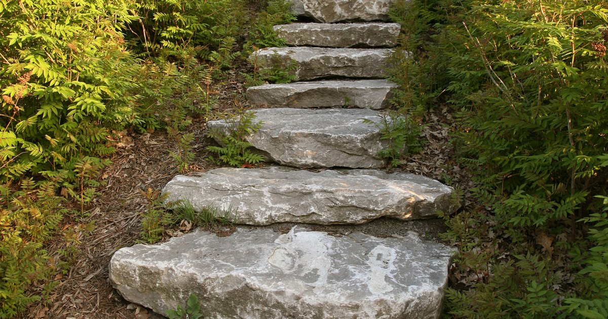 Building Stone Steps : How to build steps into a slope ehow uk
