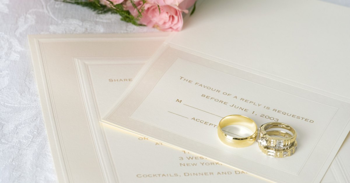What are some good wedding card inscriptions? eHow UK