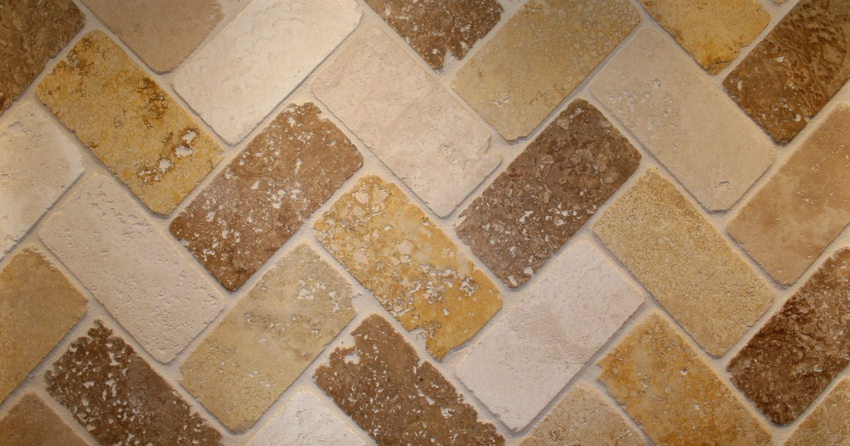 How to install tile in a herringbone pattern ehow uk for Best grout color for travertine tile