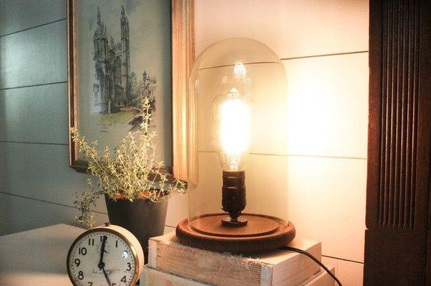 Cómo hacer una lámpara industrial de madera