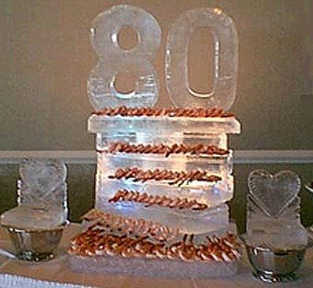 Ideas para centros de mesa para una fiesta de 80º cumpleaños ...