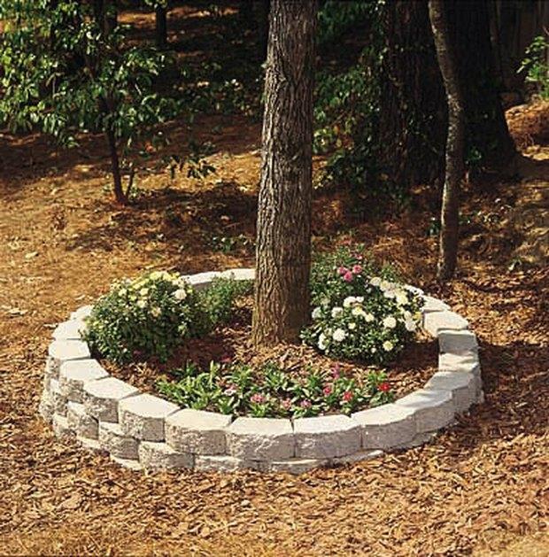 cmo construir una jardinera exterior circular de ladrillo
