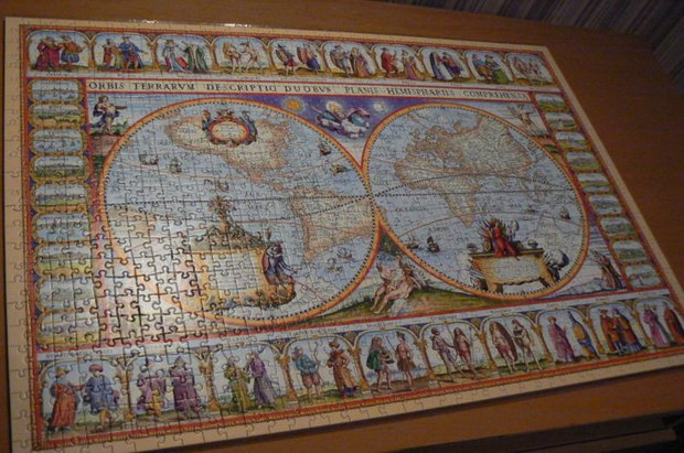 how to frame a jigsaw puzzle