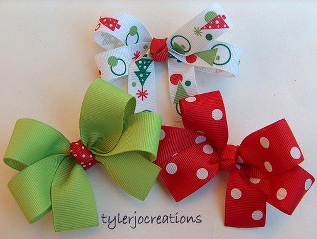 cmo hacer moos con cintas moos navideos