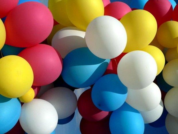 ideas para centros de mesa globos