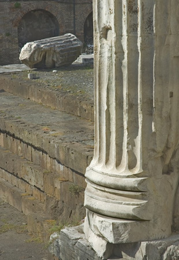 la historia de las columnas romanas