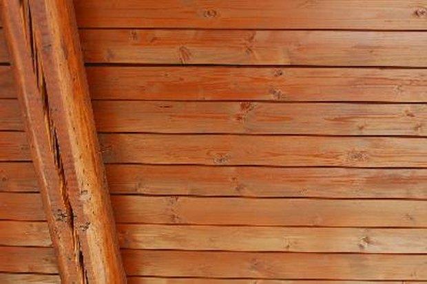 instala y sella t mismo un techo de madera de pino nudosa