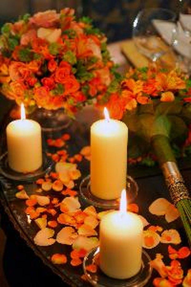 ideas para centros de mesa para una fiesta de cumpleaos de aos con velas y